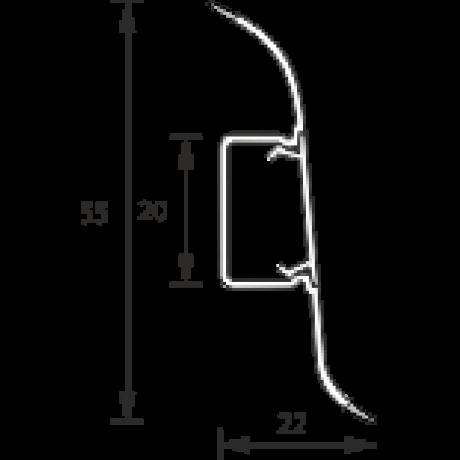 Плинтус Идеал Оптима 336 Мербау