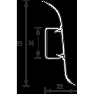 Плинтус Идеал Оптима 219 Дуб натуральный