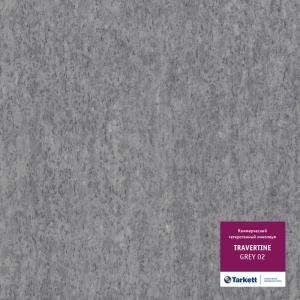 Линолеум Travertine Grey 02 (Травертин Грей)